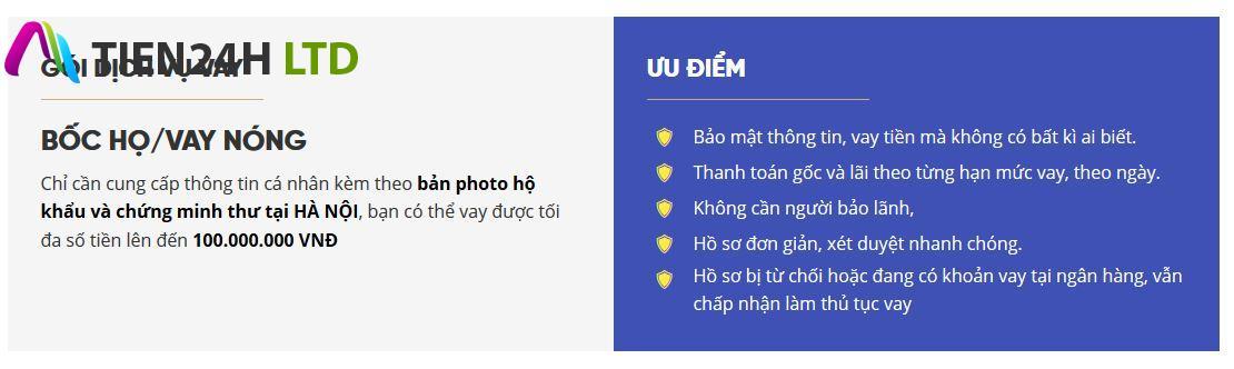 Cho vay tiền tại Hà Nội xét duyệt hồ sơ nhanh gọn